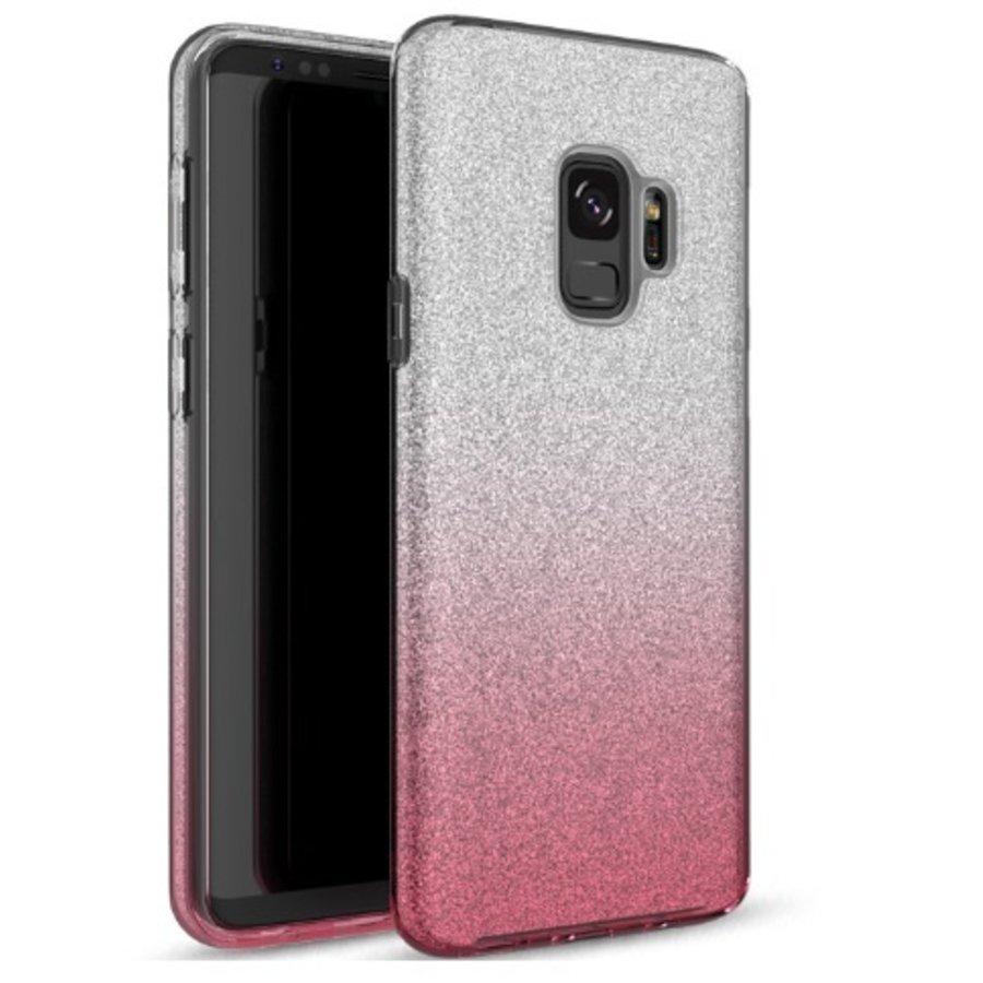 Samsung S9 Semi Glitter telefoonhoesje - Roze-1