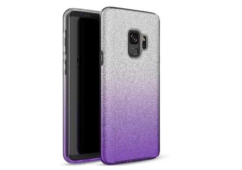 Samsung S9 Semi Glitter telefoonhoesje - Paars