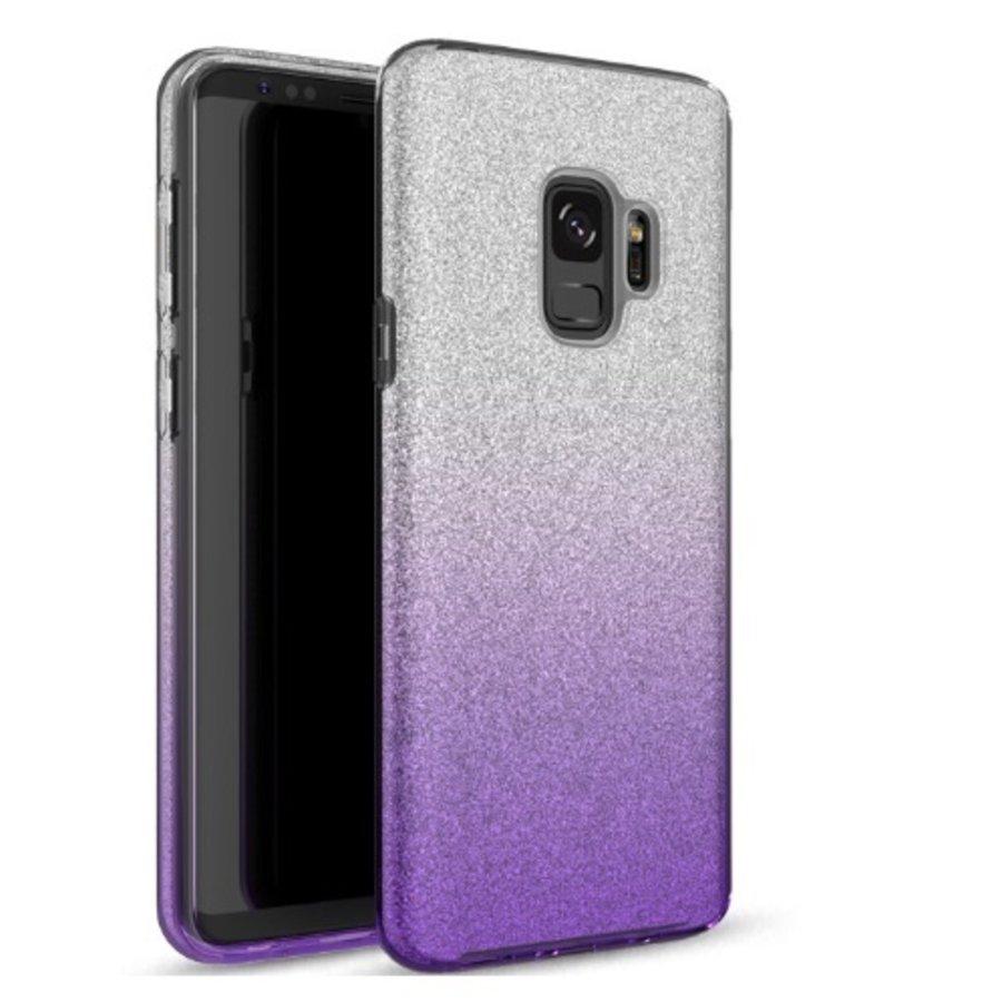 Samsung S9 Semi Glitter telefoonhoesje - Paars-1