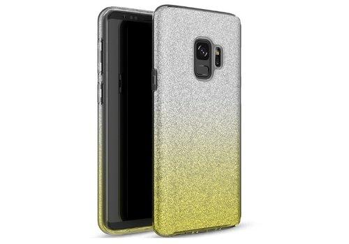 Samsung S9 Semi Glitter telefoonhoesje - Geel