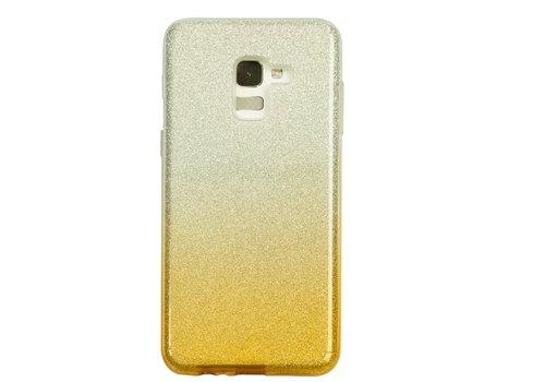 Samsung A8 Semi Glitter telefoonhoesje - Geel