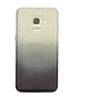 Samsung A5 Semi Glitter telefoonhoesje - Zwart
