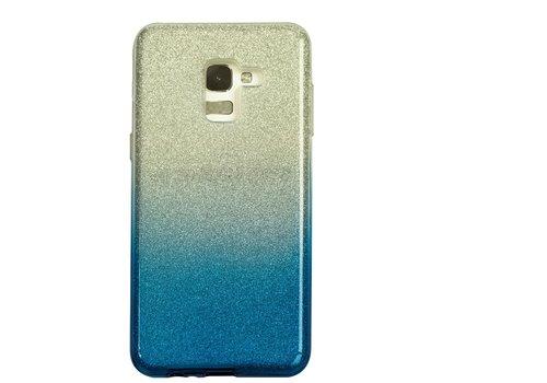 Samsung A5 Semi Glitter telefoonhoesje - Blauw