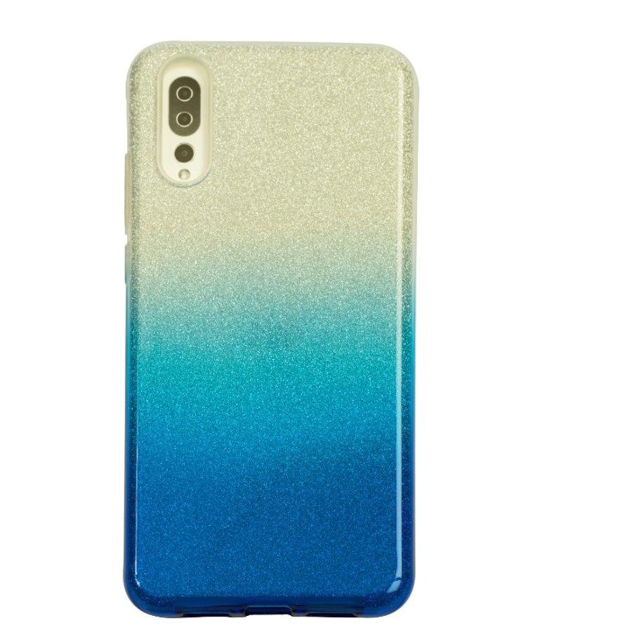 Huawei P20 Semi Glitter telefoonhoesje - Blauw-1