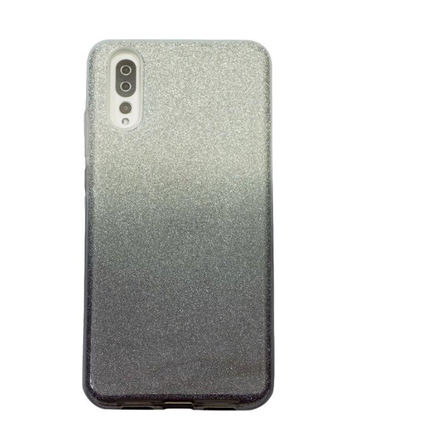 Huawei P20 Semi Glitter telefoonhoesje - Zwart-1