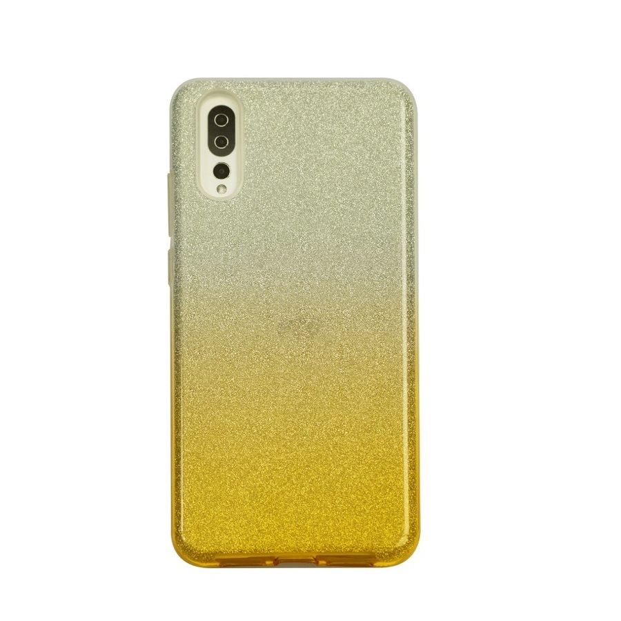 Huawei P20 Semi Glitter telefoonhoesje - Geel-1