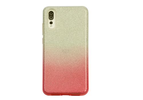 Huawei P20 Semi Glitter telefoonhoesje - Rood