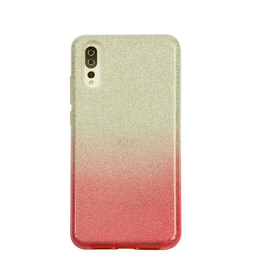 Huawei P20 Semi Glitter telefoonhoesje - Rood-1