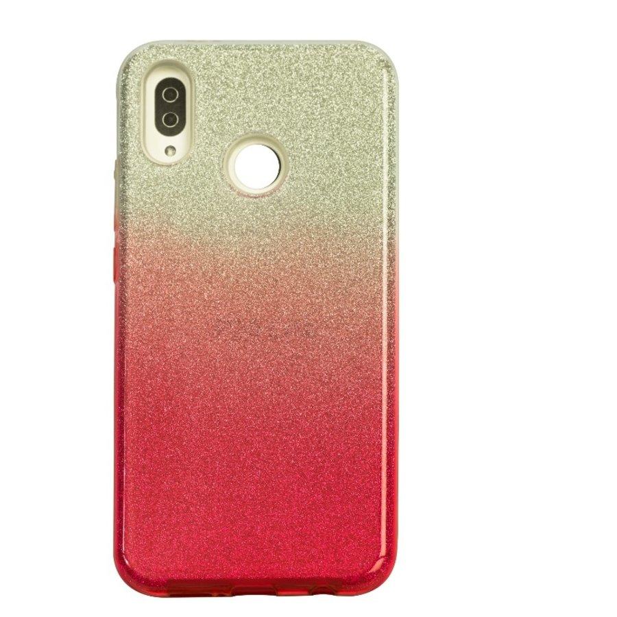 Huawei P20 Lite Semi Glitter telefoonhoesje - Rood-1
