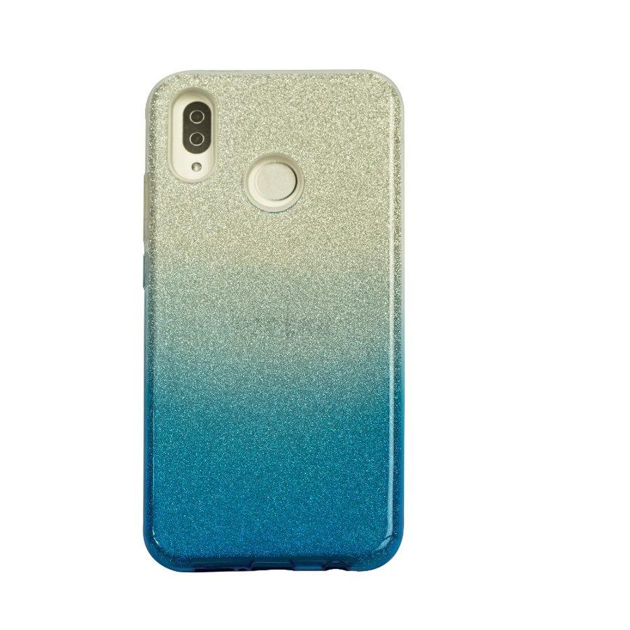 Huawei P20 Lite Semi Glitter telefoonhoesje - Blauw-1
