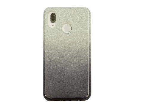 Huawei P20 Lite Semi Glitter telefoonhoesje - Zwart