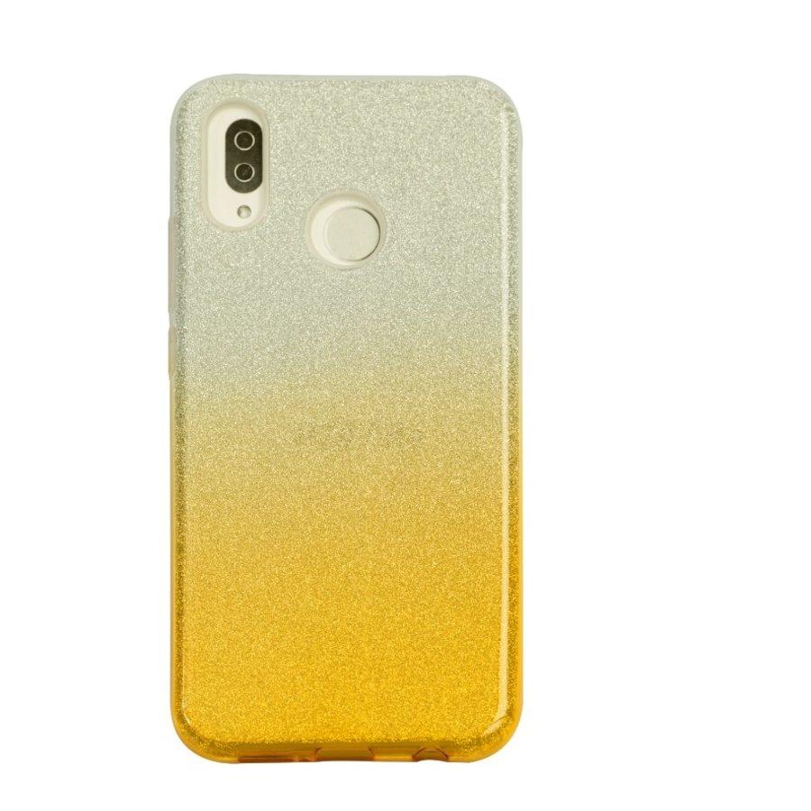 Huawei P20 Lite Semi Glitter telefoonhoesje - Geel-1
