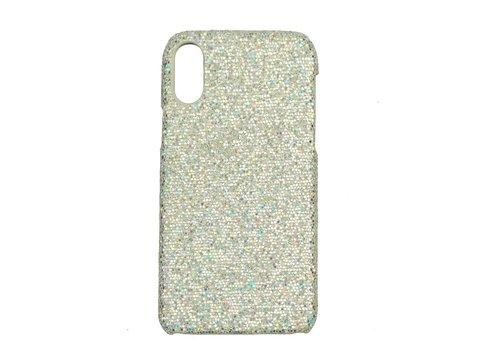 Apple Iphone XS Bling telefoonhoesje - Zilver