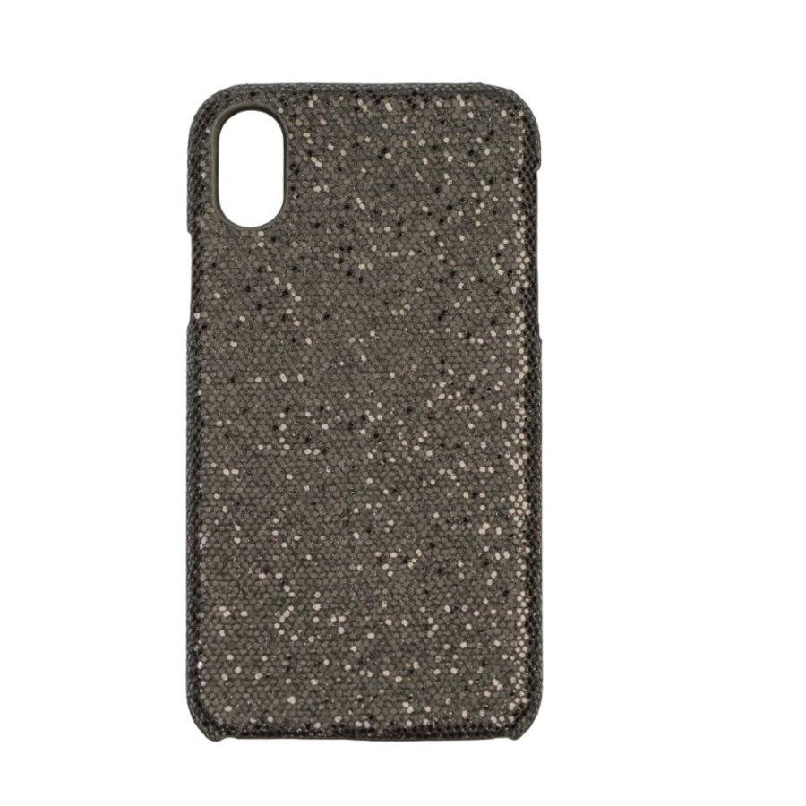 Iphone X Bling telefoonhoesje - Zwart-1