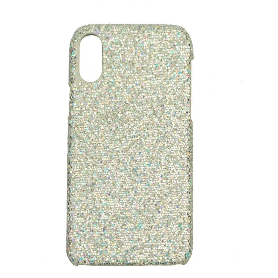 Apple Iphone X Bling telefoonhoesje - Zilver-1
