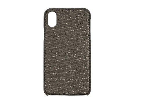 Apple Iphone XS Max Bling telefoonhoesje - Zwart
