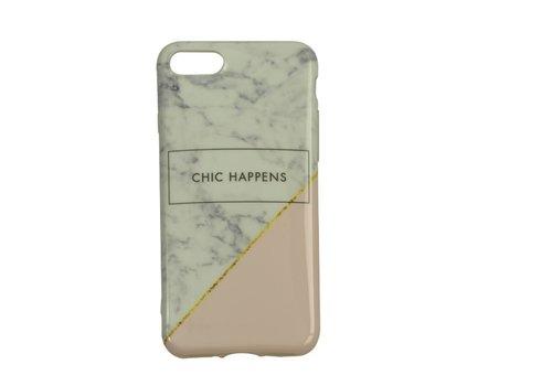 Apple Iphone 8 Chic happens telefoonhoesje - Wit