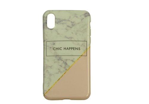 Apple Iphone Xs Chic Happens telefoonhoesje - Wit