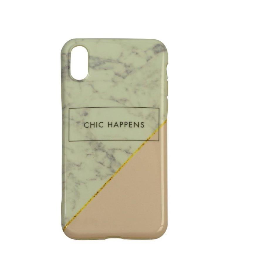 Apple Iphone Xs Chic Happens telefoonhoesje - Wit-1
