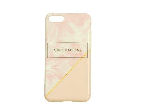 Apple Iphone 8 Chic happens telefoonhoesje - Roze