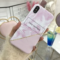 thumb-Apple Iphone XS Chic Happens telefoonhoesje - Roze-2
