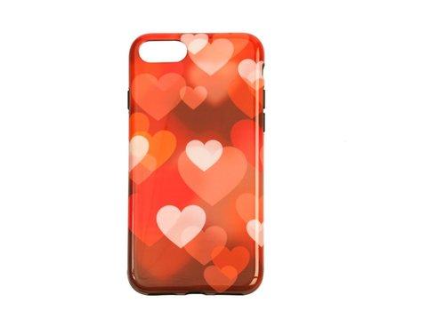 Apple Iphone 8 Plus Hearts telefoonhoesje