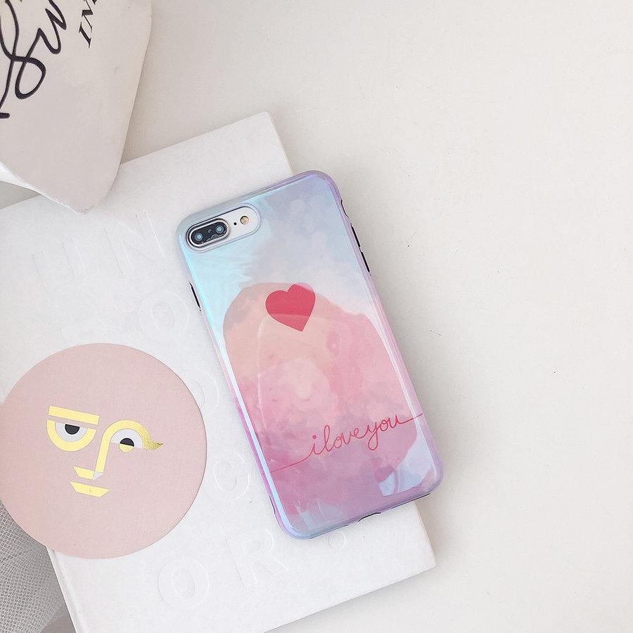 Apple Iphone 8 Plus I love you telefoonhoesje-2
