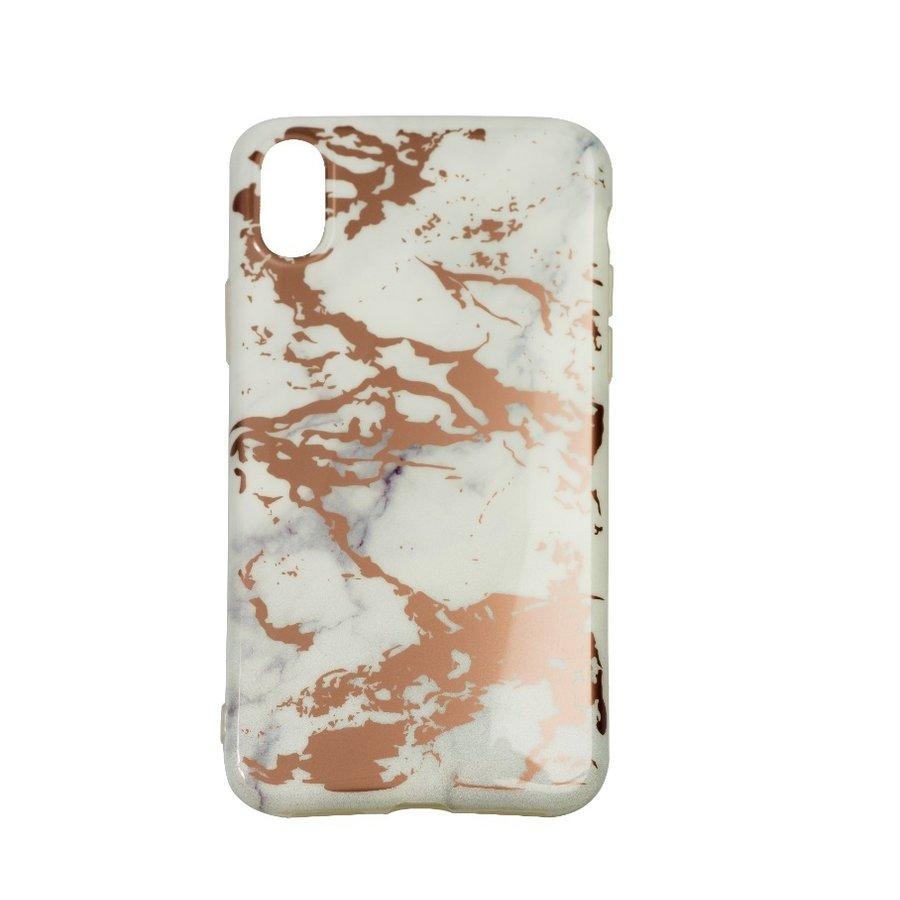 Apple Iphone X Shiny marble telefoonhoesje - Wit-1