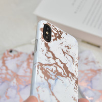thumb-Apple Iphone XS Shiny marble telefoonhoesje - Wit-4