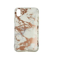 thumb-Apple Iphone XS Max Shiny marble telefoonhoesje - Wit-1
