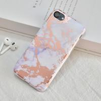 thumb-Apple Iphone 8 Shiny Marble telefoonhoesje - Wit-2