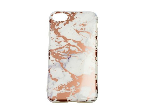 Apple Iphone 8 Shiny Marble telefoonhoesje - Wit