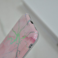 thumb-Apple Iphone X Shiny marble telefoonhoesje - Roze-5