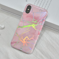 thumb-Apple Iphone X Shiny marble telefoonhoesje - Roze-2