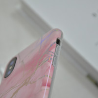 thumb-Apple Iphone XS Max Shiny marble telefoonhoesje - Roze-3