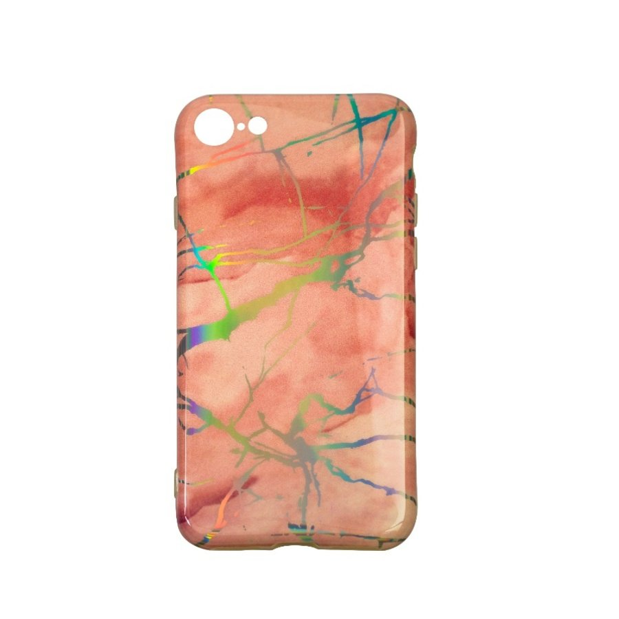Apple Iphone 8 Plus Shiny marble telefoonhoesje - Roze-1