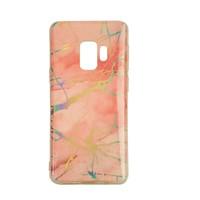Samsung S9 Shiny marble telefoonhoesje - Roze