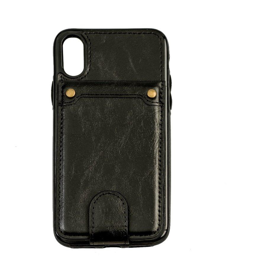 Apple Iphone X Leer flip telefoonhoesje-1