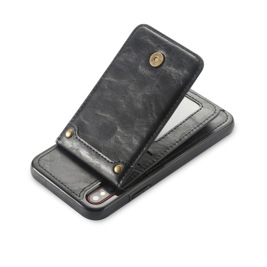 Apple Iphone X Leer flip telefoonhoesje-3