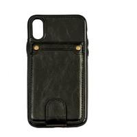 thumb-Apple Iphone XS Leer flip telefoonhoesje-1