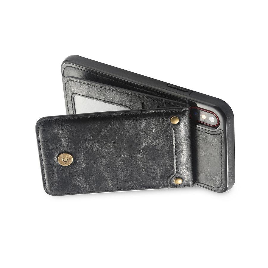 Apple Iphone XS Leer flip telefoonhoesje-2