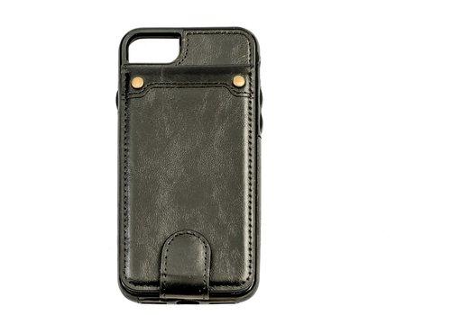 Apple Iphone 8 Plus Leer flip telefoonhoesje