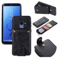 thumb-Samsung S9 Plus Leer flip telefoonhoesje-4
