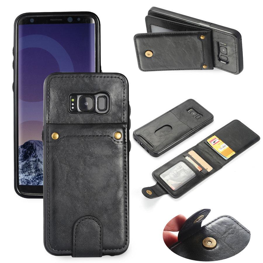 Samsung S8 Leer flip telefoonhoesje-2