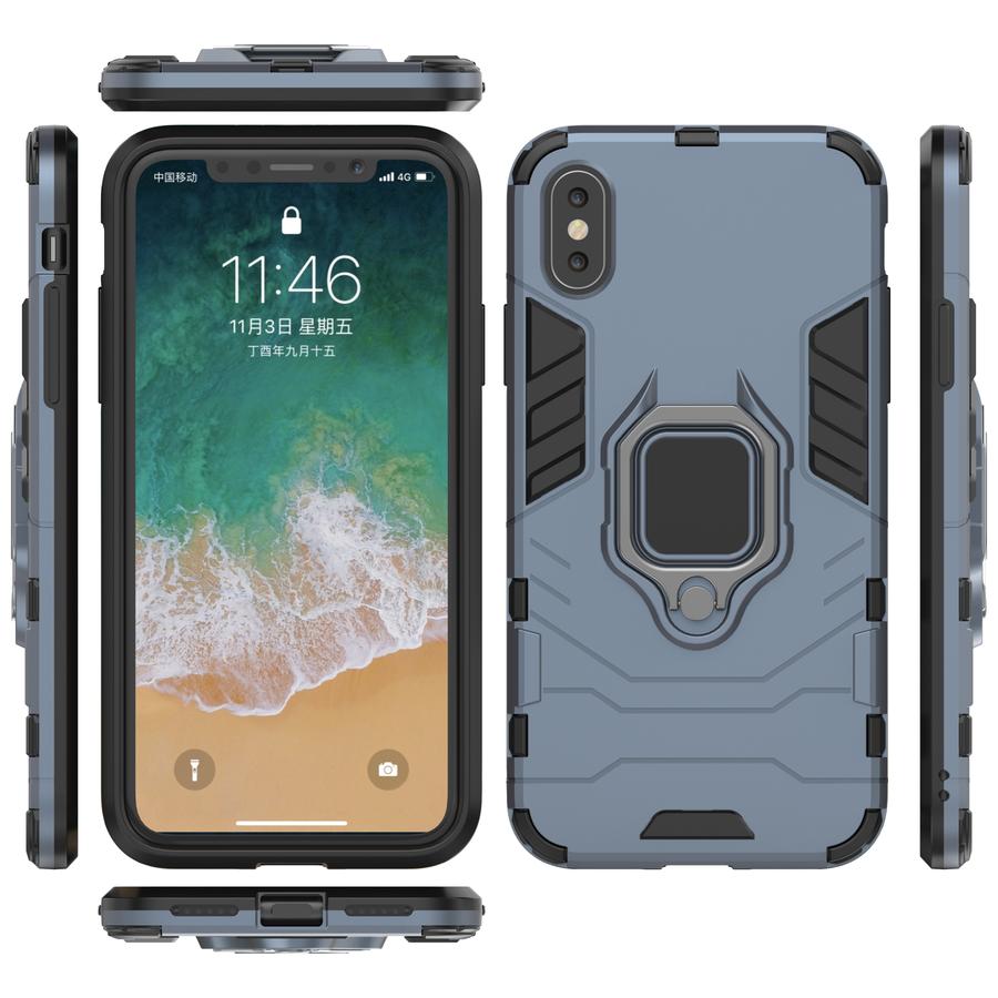 Apple Iphone Xs Ring magnet telefoonhoesje - Blauw-3