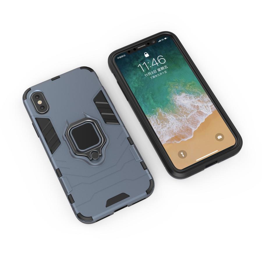 Apple Iphone Xs Ring magnet telefoonhoesje - Blauw-4