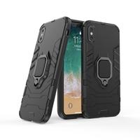 thumb-Apple Iphone XS ring magnet telefoonhoesje - Zwart-4