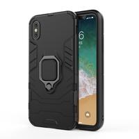 thumb-Apple Iphone XS ring magnet telefoonhoesje - Zwart-1