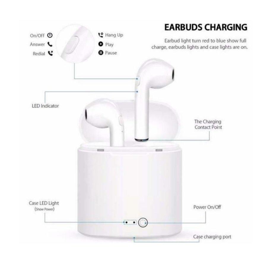 I7 TWS Mini bleutooth earpods - Wit-2