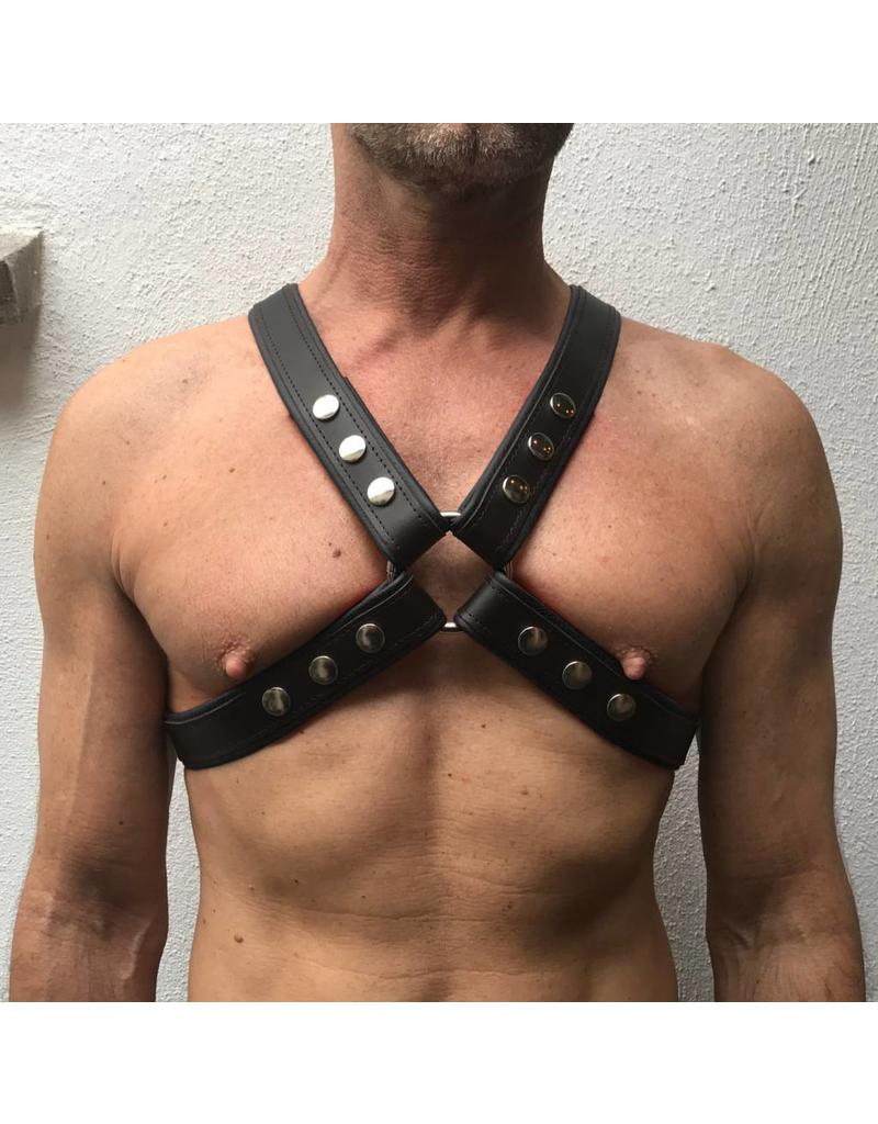 RoB 4-Strap Harness black with black piping